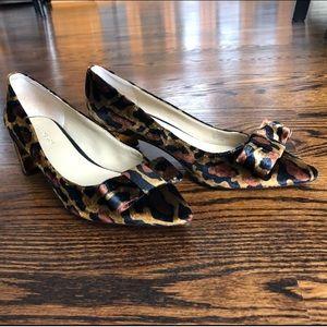 Ann Taylor Velvet Leopard Heels